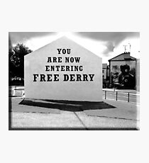 free derry wall Fotodruck
