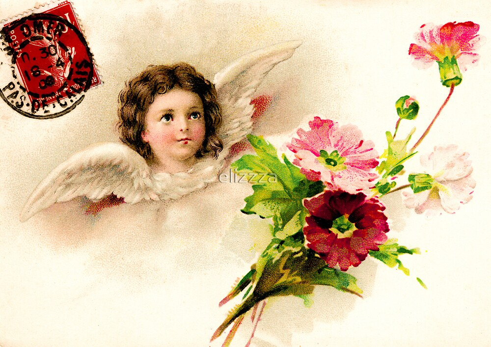Victorian angel postcard by elizzza