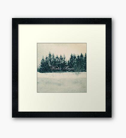 Winter Bliss Framed Print