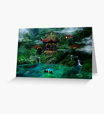 Tale of the Red Swans Greeting Card