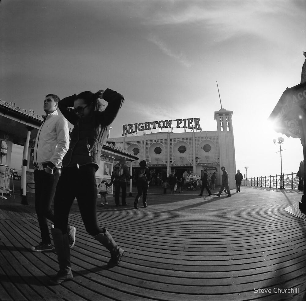 Fisheye on the Pier by Steve Churchill