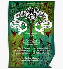 The Oaks School 25th Anniversary Poster Poster