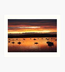 Sunrise at Starcross Art Print