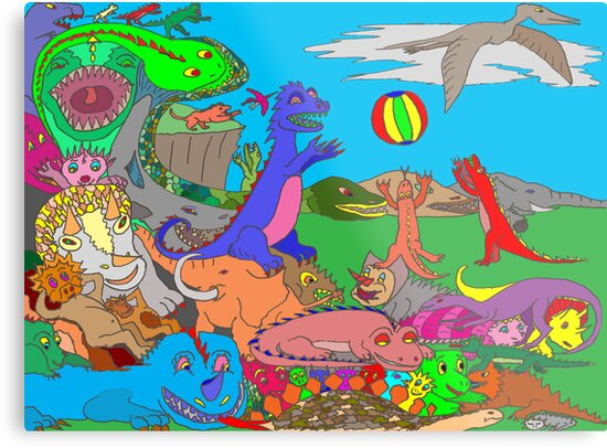 Dinosaurs by David Fraser