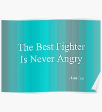 'Fighter' By Lao Tzu  Poster