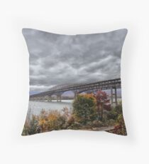 Newburgh / Beacon Bridge Before The Storm Throw Pillow