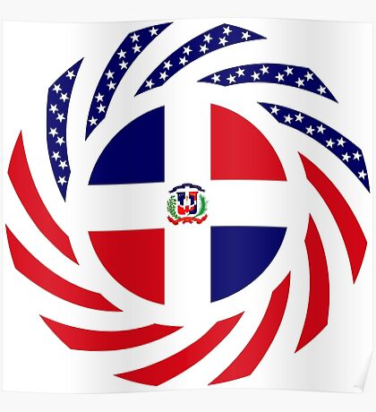 Dominican American Multinational Patriot Flag Series Poster