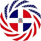 Dominican American Multinational Patriot Flag Series by Carbon-Fibre Media