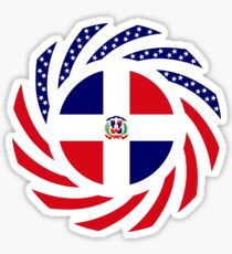 Dominican American Multinational Patriot Flag Series Sticker