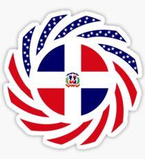 Dominican American Multinational Patriot Flag Series Sticker