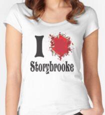 Camiseta entallada de cuello redondo Érase una vez que amo storybrooke