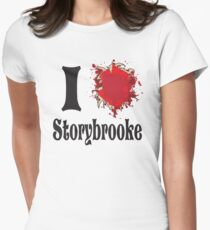 Once upon a time I love storybrooke Women's Fitted T-Shirt