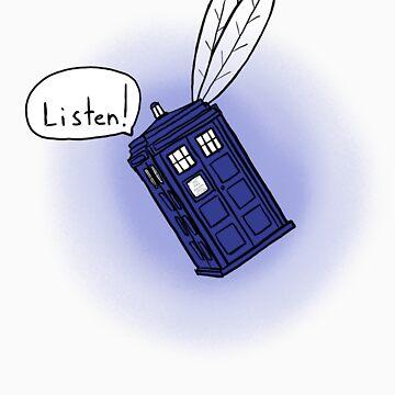 Flying Phone Box - N.A.V.I. by ClockworkRobot