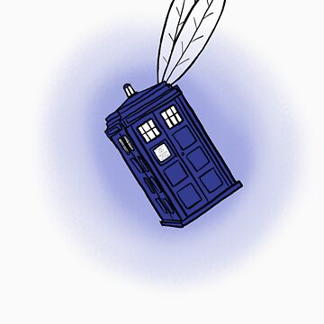 Flying Phone Box by ClockworkRobot