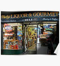 Marty's Liquor & Gourmet Deli Poster