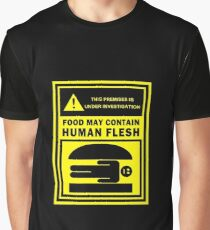 Food May Contain Human Flesh Graphic T-Shirt