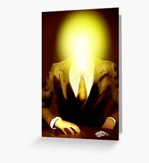 After Magritte Greeting Card