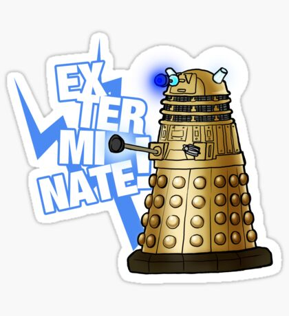 Doctor Who - EX-TER-MIN-ATE! Sticker
