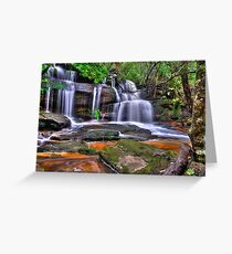 Twin Falls at Somersby Greeting Card