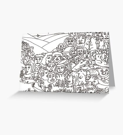 Peoplescape drawing Greeting Card