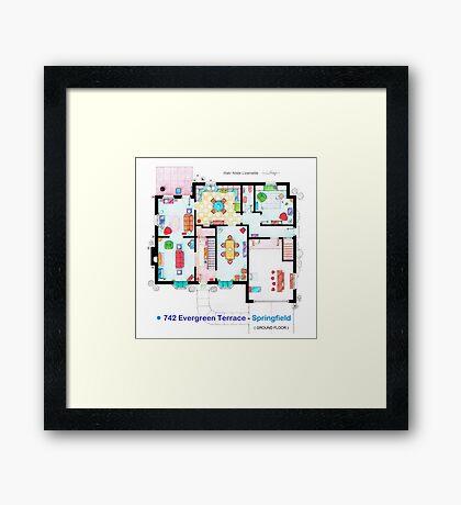 House of Simpson family - Ground Floor Framed Print