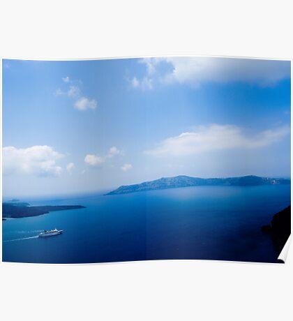 Cruiser in Santorini, Greece VRS2 Poster