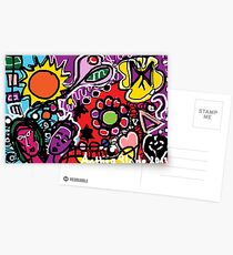 Vibrant - An Imagination filled with colour Postcards