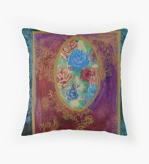 Roses - The Qalam Series Throw Pillow