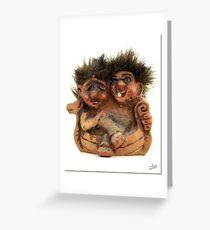 Twin Troll Greeting Card