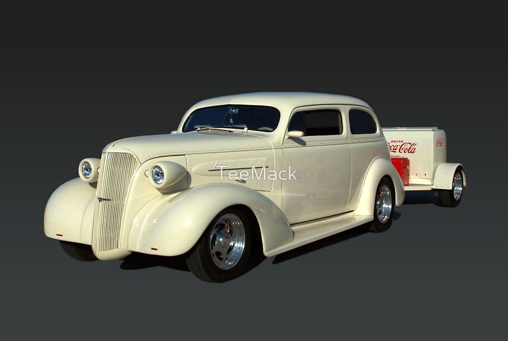 1937 Chevrolet Custom Sedan Hot Rod with a Trailer by TeeMack