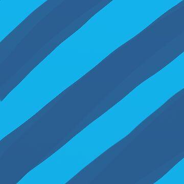 Blue Paint Stripes case by foxorchid