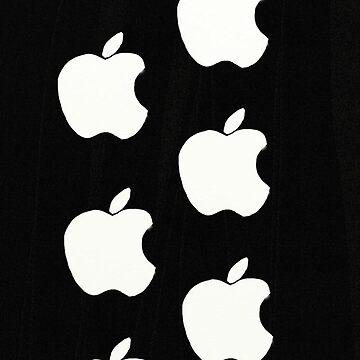 Apple logo on Black case by foxorchid