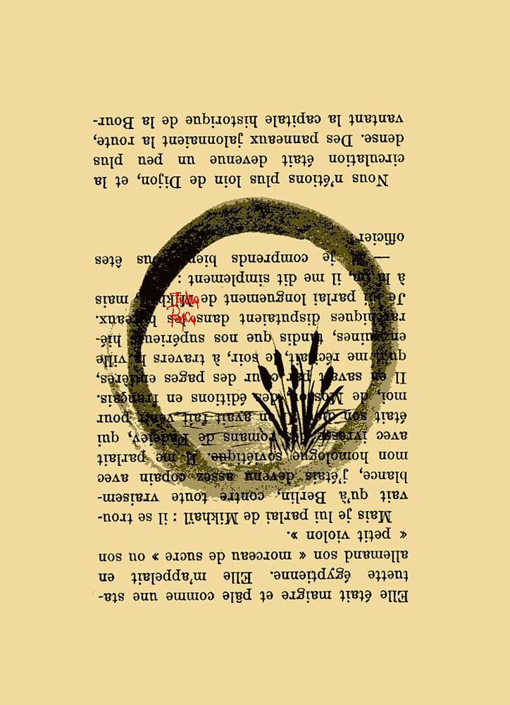 Zen Circle Sumi-E by irinarosca
