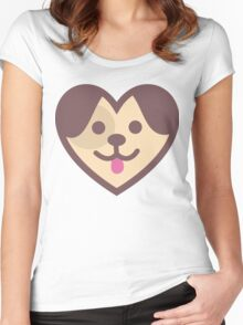 Puppy Heart Women's Fitted Scoop T-Shirt