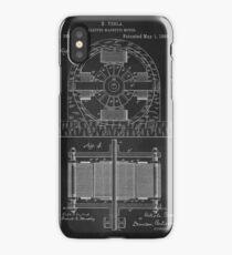 Tesla Coil Patent Art iPhone Case