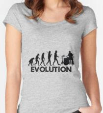 Evolution of a Drummer Women's Fitted Scoop T-Shirt