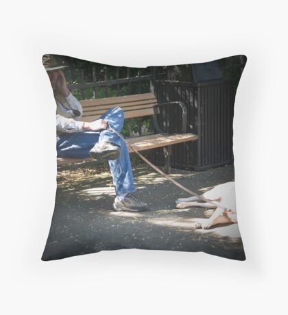 This is gonna' be awhile... Throw Pillow