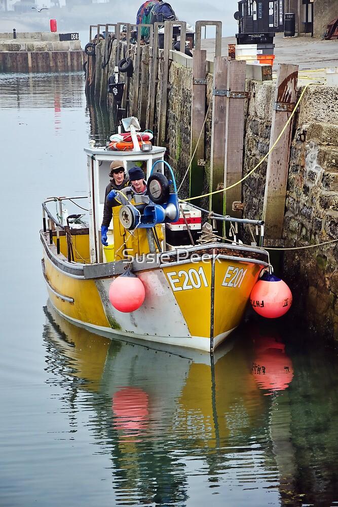 Hosing Down The Boat by Susie Peek