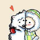 Boy 'n Dog Love Forever Greeting by offleashart
