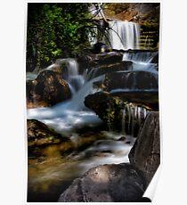 Stair Step Waterfalls Poster