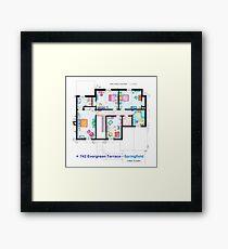 House of Simpson family - First Floor Framed Print