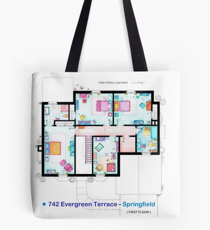 House of Simpson family - First Floor Tote Bag