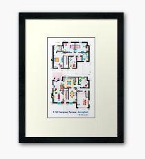 House of Simpson family - Both floors Framed Print