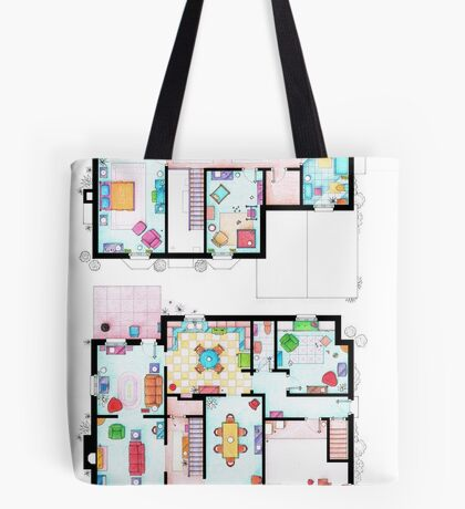 House of Simpson family - Both floors Tote Bag