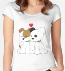 Puppy Couple Women's Fitted Scoop T-Shirt
