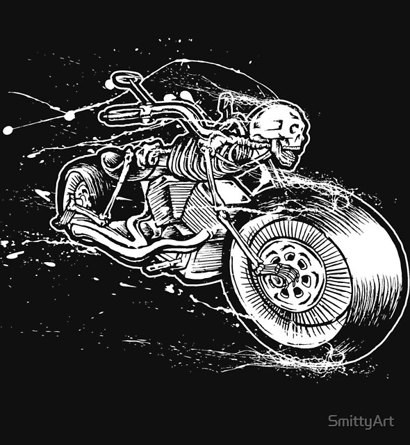 Skeleton Rider by SmittyArt