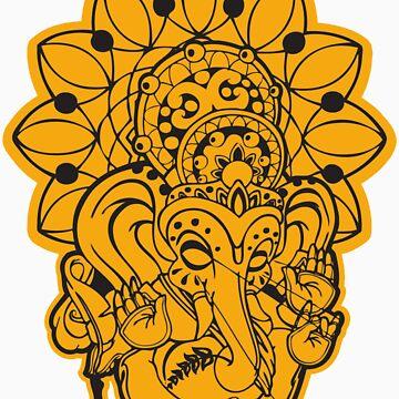 Ganesh (yellow/gold and black) by NateLuna