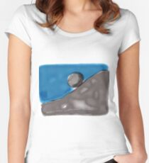 Albert Camus on THE MYTH OF SISYPHUS Women's Fitted Scoop T-Shirt