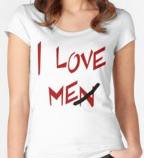 "Women's ""I Love Me"" Women's Fitted Scoop T-Shirt"