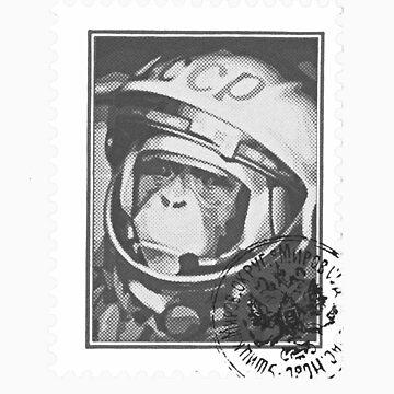 Soviet Space Monkey (Stamp) by Thundermonkey